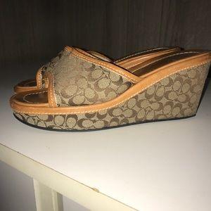 Coach wedge sandal size 6.5